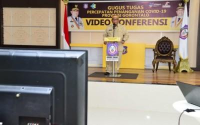 Gubernur Gorontalo Bacakan Pidato Pemberlakuan PSBB